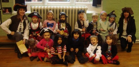 Early Years Class in Pirate Costumes